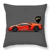 The Aventador Throw Pillow by Mark Rogan