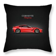 The Red Vette Throw Pillow