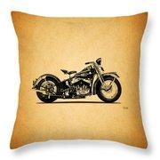 Harley Davidson Ulh 1941 Throw Pillow