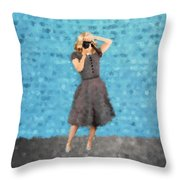 Natalie Throw Pillow by Nancy Levan