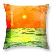 Christopher Columbus 1492 Throw Pillow by Phil Perkins