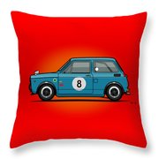 Honda N600 Blue Kei Race Car Throw Pillow