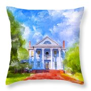 Gracious Living - Classic Southern Home Throw Pillow by Mark E Tisdale