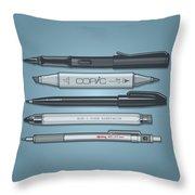 Pro Pens Throw Pillow