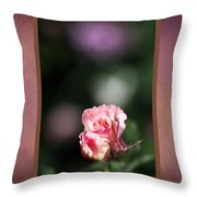 Romantic Rose Bud Throw Pillow