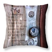 Chapel Door - Verse Throw Pillow
