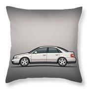 Audi A4 Quattro B5 Type 8d Sedan White Throw Pillow