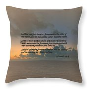 Genesis 1 6-8 Let There Be A Firmament In The Midst Of The Waters Throw Pillow