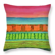 Sultry Day At The Seaside  Throw Pillow