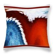 Patriotic Heart Throw Pillow