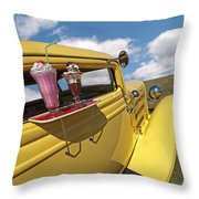 Deuce Coupe At The Drive-in Throw Pillow