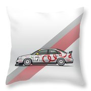 Audi A4 Quattro B5 Btcc Super Touring Throw Pillow