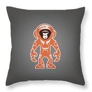 Monkey Crisis On Mars Throw Pillow