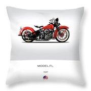 Harley Davidson Model Fl Throw Pillow