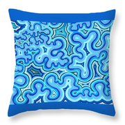 Bluelines_03 Throw Pillow