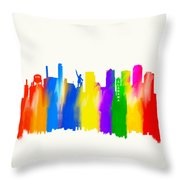 Seeing The Sights In Birmingham Throw Pillow by Mark Tisdale