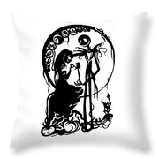 A Nightmare Before Christmas Throw Pillow