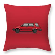Jesse Pinkman's Crappy Red Toyota Tercel Sr5 4wd Wagon Al25 Throw Pillow