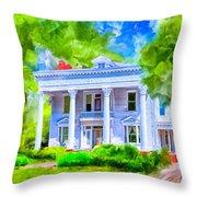 Classically Southern - Montezuma Georgia Throw Pillow by Mark Tisdale