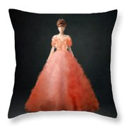 Melody Throw Pillow by Nancy Levan