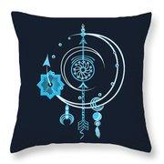 Blue Point Throw Pillow