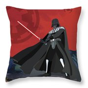 Darth Vader Star Wars Character Quotes Poster Throw Pillow by Lab No 4
