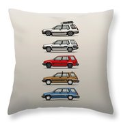 Stack Of Toyota Tercel Sr5 4wd Al25 Wagons Throw Pillow