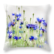 So Many Flowers, So Little Time Throw Pillow