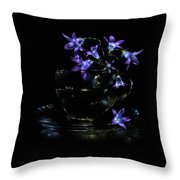 Bluebells Throw Pillow by Alexey Kljatov