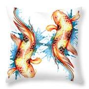 Koi Fish I Throw Pillow