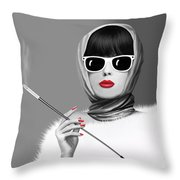 Lady Elegance Throw Pillow