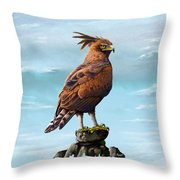 Long Crested Eagle Throw Pillow