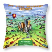 All Roads Lead To Houston Throw Pillow
