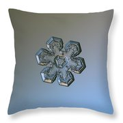 Snowflake Photo - Massive Silver Throw Pillow by Alexey Kljatov