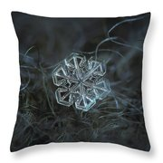 Snowflake Photo - Alcor Throw Pillow by Alexey Kljatov