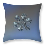 Snowflake Photo - High Voltage Throw Pillow by Alexey Kljatov