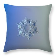 Snowflake Photo - Ice Relief Throw Pillow by Alexey Kljatov