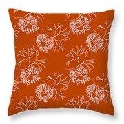 Orange Seaweed Marine Art Furcellaria Fastigiata Throw Pillow