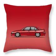 Opel Omega A, Vauxhall Carlton 3000 Gsi 24v Red Throw Pillow