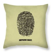 Improve Daily Business Quotes Poster Throw Pillow