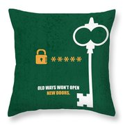 Open New Doors Business Quotes Poster Throw Pillow
