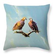 Madagascar Fish Eagle  Throw Pillow