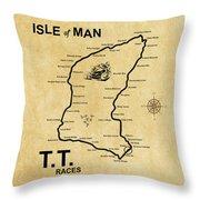 Isle Of Man Tt Throw Pillow