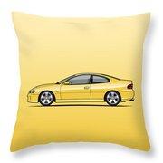 Holden Monaro Vz Cv8 Yellow Throw Pillow