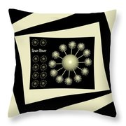 Three Dimensional Space Flower Throw Pillow