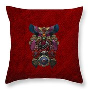 Chinese Masks - Large Masks Series - The Demon Throw Pillow