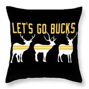 Pirates - Pittsburgh - Let's Go Bucks Throw Pillow