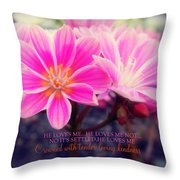 Crowned With Kindness Throw Pillow