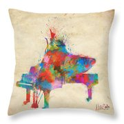 Music Strikes Fire From The Heart Throw Pillow