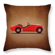 Triumph Tr3a 1959 Throw Pillow